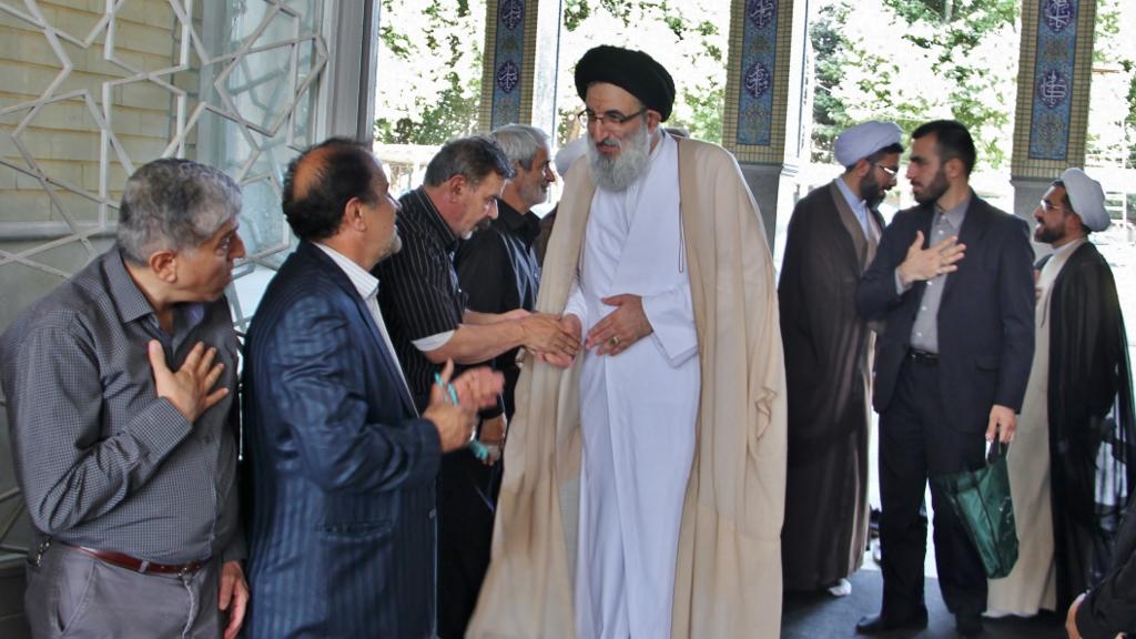 حضور در مراسم ترحیم حجت الاسلام سلیمی