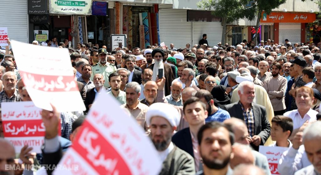 راهپیمایی مردم کرج در حمایت از بیانیه شورای عالی امنیت ملی برگزار شد
