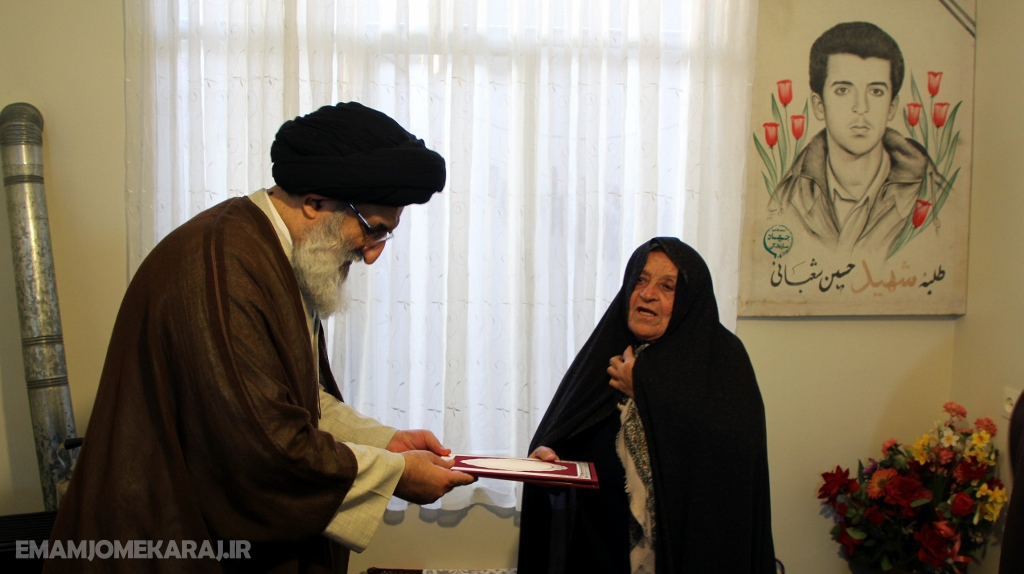 دیدار امامجمعه کرج با خانواده شهدا و ایثارگران نظرآباد